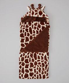 Another great find on #zulily! Brown Giraffe Hooded Blanket #zulilyfinds