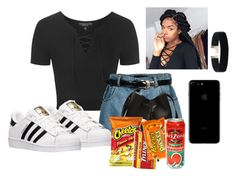 """""""Back to the 90's"""" by aerielle24 ❤ liked on Polyvore featuring Topshop, Retrò and adidas"""