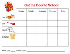Free Behavior Chart Color The Fish  Chart Behaviour Chart And