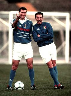 Zidane (France) and Del Piero (Italy)