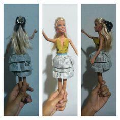 Newspaper barbie dress;)