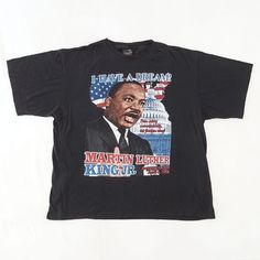 Martin Luther King Jr I Have a Dream T-Shirt    http://www.ebay.com/itm/-/152467071248?    #MartinLutherKing #Jr #37th #Anniversary #TShirt #MalcolmX #HipHop #Rap #XL #2XL #BlackHistory #IHaveADream #PeopleRight #RapTees #BootLeg