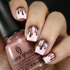 Melting chocolate nails ===== Check out my Etsy store for some nail art supplies https://www.etsy.com/shop/LaPalomaBoutique