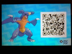 Shiny Garchomp! Honestly one of the most disappointing shinies I've seen...but I still love them! Enjoy the QR code!