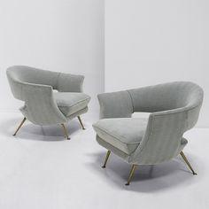 1950 Italian ''cocktail'' chairs