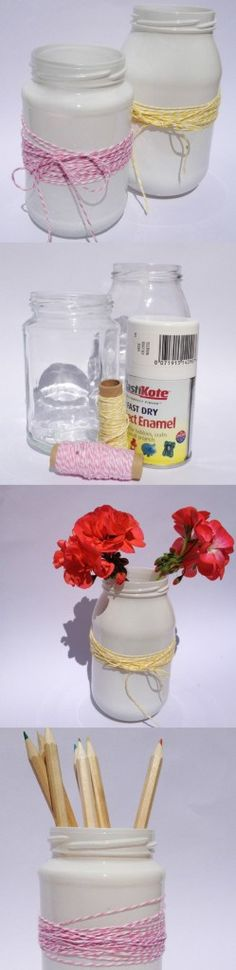 Super simple Jam Jar Crafts - perfect for the #GetYourCrafton #Stationery challenge.