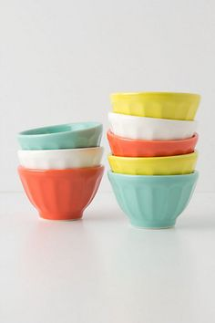 Let me tell you, these mini bowls are the greatest thing since skinnygirl margaritas- I find a use for them everyday- from dipping sauces, to candy, and even great as little catch-alls for rings, earrings, bracelets etc.  .  Mini Latte Bowls #anthropologie