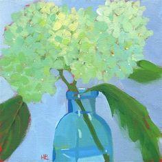 Heather Bennett Gallery of Original Fine Art Fine Art Gallery, Some Pictures, Hydrangea, Glass Vase, Flowers, Painting, Art Gallery, Painting Art, Hydrangeas
