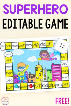 Editable Superhero Board Game