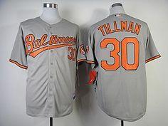MLB baltimore orioles 30 Tillman in grey jersey-add