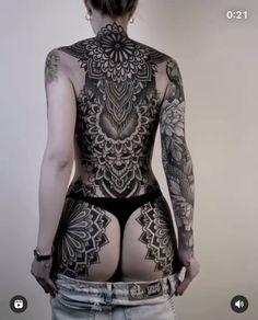Full Body Tattoo, Body Tattoos, Inked Magazine, Inked Girls, Blackwork, Russia, Bodysuit, Beautiful, Instagram