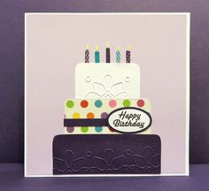 Birthday Cake Card by Raggedy Creek Creations, via Flickr