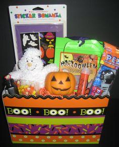 Halloween Gift Basket For Kids Diy Halloween Gifts Halloween Baskets Halloween Candy