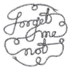 Forget Me Not Cake Decor or Art Print