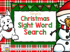 "Christmas, Christmas, Christmas Time! Fabulous, fun December is so hard not to infuse some fun while anticipating Christmas and the other winter holidays. What kindergartner or first grader doesn't love going on a word hunt, let alone a Christmas Word Hunt.Included in this product you will find five different colored winter scenes with sight words ""hidden"" among the shapes and colors."