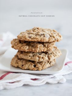 Oatmeal Chocolate Chip Cookies | foodiecrush.com