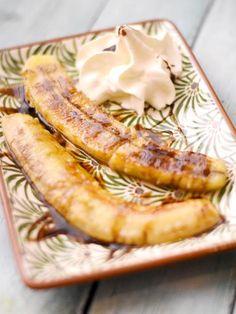 Bananes flambées simples et très rapides - Recette de cuisine Marmiton : une recette