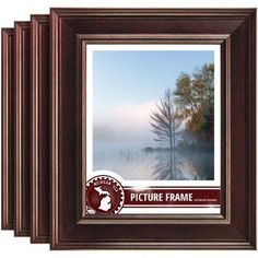 Craig Frames Contemporary Mahogany Red Picture Frame, Set of 4, Brown