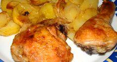 Przepis na udka z kurczaka pieczone w piekarniku z ziemniakami | PrzepisDlaCiebie.pl