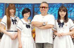 映画『エンド・オブ・ホワイトハウス』公開直前イベントに出席した(左から)松村沙友理、生駒里奈、テレンス・リー、若月佑美 (C)ORICON NewS inc.