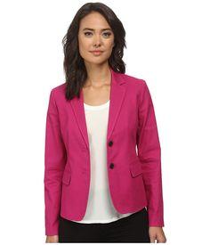 Anne Klein Anne Klein  TwoButton Cotton Pique Jacket Womens Coat for 84.99 at Im in!