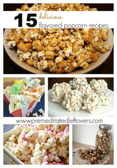 Check out this list of 15 Popcorn Recipes – Apple Pie, Caramel, Oreo Rainbow – there are so many awesome options!