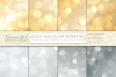 Check out Gold & Silver Bokeh Papers by RaccoonGirl Design on Creative Market