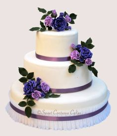 Sweet Contessa Cakes - Wedding Gallery. Lovely colors! For a purple theme or a blue theme.