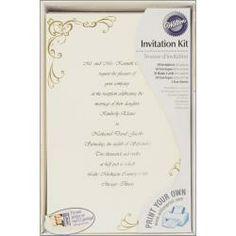 print-your-own invitations kit glitz & glamour wilton print-your, Wedding invitations