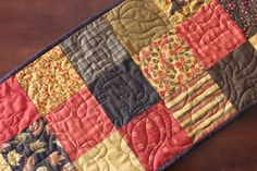 Phenomenal Fall and Thanksgiving Table Runner Quilted on Etsy, $40.00