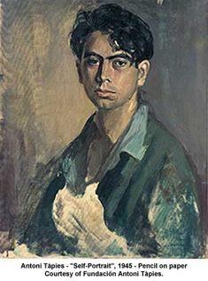 Self-Portrait, 1945  Antoni Tapies