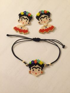 Brick Stitch, Perler Beads, Beading Patterns, Beaded Earrings, Quilling, Seed Beads, Crochet Necklace, Disney, Bracelets