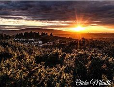 Good Night From Ireland  This wonderful sunset was captured from the top of Killiney hill by @catchthatsnap