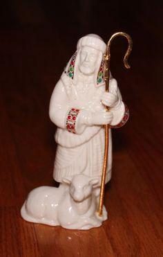Lenox China Jewels Nativity SHEPHERD w/STAFF Figurine EUC