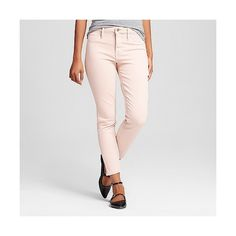 Women's High Rise Jegging Pink 0R ($30) ❤ liked on Polyvore featuring pants, leggings, pink and mossimo