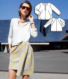 Slit Panel Shirt 02/2015 #128A http://www.burdastyle.com/pattern_store/patterns/slit-panel-shirt-022015?utm_source=burdastyle&utm_medium=blog&utm_campaign=bsmhbl020915architecturalaccentscollection-128A
