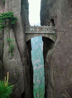 Tibet- possible the bridge of immortals could be in china, but you know, that story