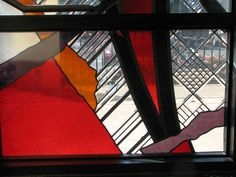 A section of a window, on the front of our JCC.