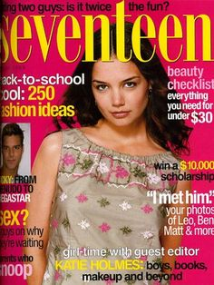 "Fifteen years after her hubby Tom Cruise appeared on our cover, Katie Holmes served as a guest editor for the August 1999 issue. Back then she refused to comment on her alleged romance with Dawson's Creek costar Joshua Jackson, but she did talk about her curfew (""It wasn't until last Thanksgiving that her folks stopped enforcing it. 'It was pretty exciting,' Holmes says, grinning."") and her Barbie collection. ""I have about 20 dolls, the huge house, hot dog stand, game room, workout center…"