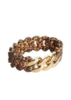 "THE RUBZ Armband - Modell ""Winter"" - leopard/gold - MONDIALmode"