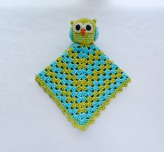 Instant Download - PDF Crochet Pattern - Owl Security Blanket - Text instructions and SYMBOL CHART instructions. $3.99, via Etsy.