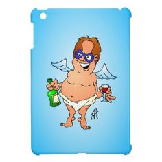 Fallen Christmas angel iPad Mini Cases #Zazzle #Cardvibes #Tekenaartje