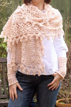 crochet scarf shawl by Cherry Heart