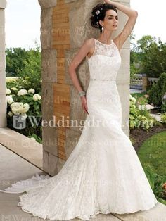 Lace Beach Wedding Gown