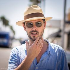 The French actor #MelvilPoupaud on Abbot Kinney Blvd.  #streetstyle #frenchactor #french #acteur #musicien #realisateur #summerhat #borsalino @borsalino_world #sunglasses #fashion #menstyle #menswear #mensblog #abbotkinney #california