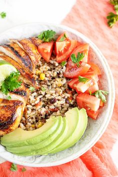 This Grilled Southwest Chicken and Suddenly Grain Salad is a great combo of juicy chicken, wholesome grains, and fresh veggies bursting with flavor!
