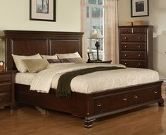 Amish elegance queen bookcase bed with 12 underbed drawers for Overstock furniture and mattress plano