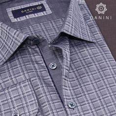 Slate Grey Plaid Sport Shirt Sports Shirts, Slate, Casual Shirts, Menswear, Shirt Dress, Grey, Check, Mens Tops, How To Wear