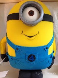 Cake minion, despicable me Cake Minion, Minions, Despicable Me, Party Ideas, Cakes, Kids, Fashion, Young Children, Moda