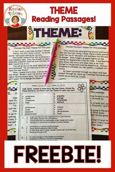 FREE! This Theme lesson is perfect for an introduction or review practice for…